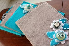 cute felt book covers -- no tutorial just the picture at this link