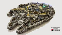 Smarty: Surrealista réplica del Halcón Milenario elaborado a partir de 6000 piezas de Lego