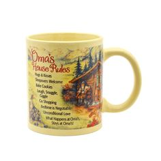 """Oma's House Rules"" Gift for Oma Mug GermanGiftOutlet.com  - #coffee #cup #mug #gift #ideas #kitchenware #german #germany #saying #funny #cute #products #him #oma"