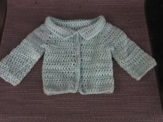 My friend Amy needed a newborns cardigan pattern and I had just finished one and told her I'd post the pattern. It started out as the sweat...