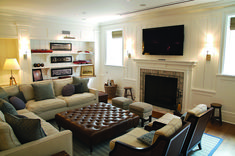The Fight Against Small Living Room Layout With Fireplace Furniture Arrangement 31 - decorhomesideas Small Living Room Layout, Living Room Bar, Living Room Furniture Layout, Small Room Design, Family Room Design, Living Room With Fireplace, Small Living Rooms, Cool Furniture, Furniture Ideas