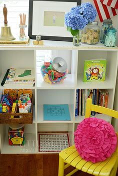 Vintage Inspired Homeschool Room