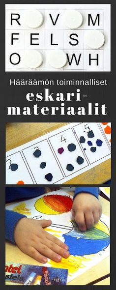Hääräämön toiminnalliset eskarimateriaalit Kindergarten Class, Diy Games, Early Childhood Education, Preschool Crafts, Teaching, Activities, Children, Peda, Early Education