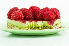 Raw Green Tea Tart for Two.  With the anti-inflammatory cancer-protecting slim