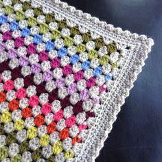 Granny Stripe crochet Rainbow blanket border  sales@mycraftlife.co.uk