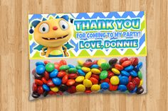 Personalized+Henry+Hugglemonster+Goody+Bag+Toppers+by+thePARTYBOTS,+$7.00