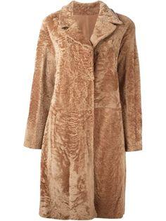 DROME fur button coat. #drome #cloth #coat
