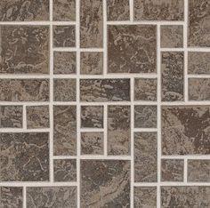 "Daltile Continental Slate 3"" x 3"" Moroccan Brown Random Block Mosaic"