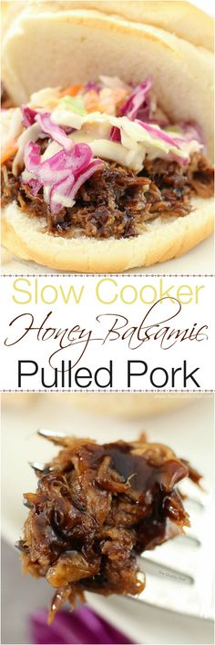 """Garlicky, sweet, tangy, succulent and tender... this pulled pork BBQ is a """"must have"""" for your next dinner or get together!"""