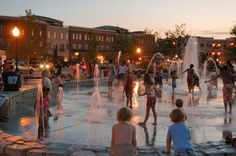 Madison Park, Suwanee's Big Splash Fountain, Suwanee Town Center, Suwanee, GA