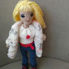 Háčkovaná panenka 28 cm převlékací Crochet Dolls, Dinosaur Stuffed Animal, Toys, Animals, Activity Toys, Animales, Animaux, Clearance Toys, Animal