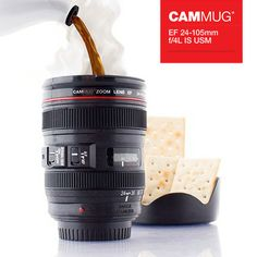 Buy Cammug Camera Lens Mug at the best price. The Cammug Multipurpose Camera Lens Mug is the ultimate gadget for photography lovers. It is a mug which looks like a professional photographic objective.