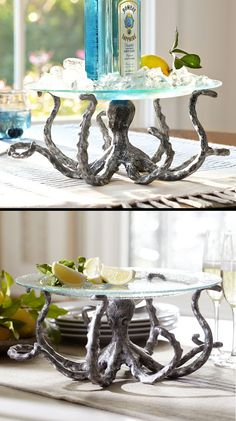 Behind the Design: Pottery Barns Summer Octopus Serving Pedestal Coastal Living, Coastal Decor, Octopus Decor, Tropical Decor, Florida Home, My Dream Home, Pottery Barn, Decoration, Sweet Home