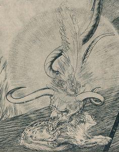 Atavistic/Totemic LVX/NOX by Austin Osman Spare (English artist/occultist 1886~1956)