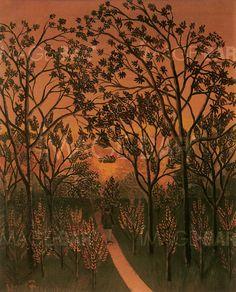 L'Allée - Henri-Rousseau -1909 Private Collection