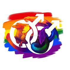 """Gay Pride Dragon"" by kaenith | Redbubble"
