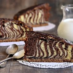 Zebra Kek Tarifi Pastry Cake, Panna Cotta, Ethnic Recipes, Pasta, Cakes, Food, Dulce De Leche, Patisserie Cake, Cake Makers