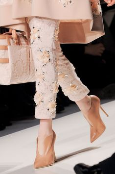 Blumarine Fall 2013 - Details                                       Looks like Spring will be blooming in Winter Fashion.