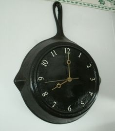 World map suitcase clock monarch 4550 pinterest world clock diy fry pan clock gumiabroncs Choice Image