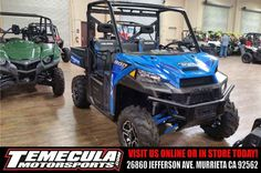 New 2016 Polaris Ranger XP® 900 EPS ATVs For Sale in California. Xtreme performance for the farm, home, or hunt Class-leading High Output 68 hp ProStar® engine Increased suspension travel and refined cab comfort, including industry exclusive Pro-Fit integration Dimensions: - Wheelbase: 81 in. (206 cm) Other: - Notes: RANGER® Models Warning: The Polaris RANGER® can be hazardous to operate and is not intended for on-road use. Driver must be at least 16 years old with a valid driver's…