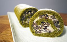 Homemade matcha Swiss roll cake with anko whipped cream!,Yumeiro Patissiere, Anime recipes *-*