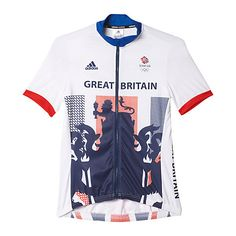 Buy Adidas Team GB Women's Cycle Jersey, White/Blue Online at johnlewis.com