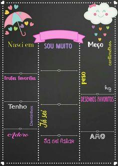 Chalkboard Chuva de Amor