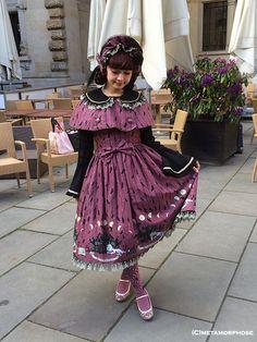 Dark Night Guardian Shirred Pinafore Dress (Medium-length) - metamorphose temps de fille