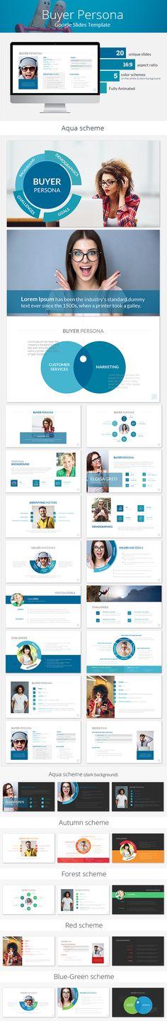Buyer Persona Google Slides Template - Google Slides Presentation Templates  Download link: https://graphicriver.net/item/buyer-persona-google-slides-template/22121347?ref=KlitVogli