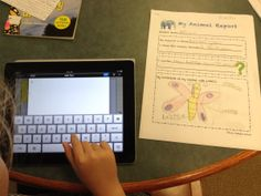 1st grade students learned about nonfiction text features and basic research steps. They researched an animal each, completed an organizer, used ExplainEverything app to draw pictures of their animals and then created ebooks using BookCreator app.