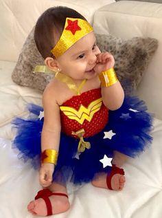 Wonder Woman Inspired Super Hero Tutu Costume (Wonder Baby) Wonder Girl