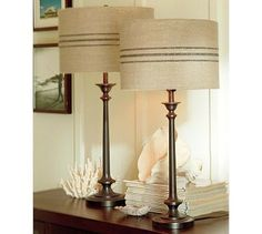 Make Your Own Pottery Barn Grain Sack Lamp Shades