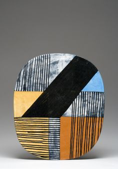 Plate by Jun Kaneko. Though he is noted for his monumental sculptures, he can also do smaller pieces.