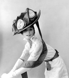 """Photo of Aubrey Hepburn in Vogue - December 1963 by Cecil Beaton (""""My Fair Lady"""" promotion or specs)."""