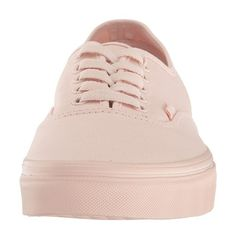 Vans Authentic ((Mono Canvas) Peach Blush) Skate Shoes ($50) ❤ liked on Polyvore featuring shoes, sneakers, vans sneakers, lightweight shoes, slim shoes, breathable shoes and breathable sneakers