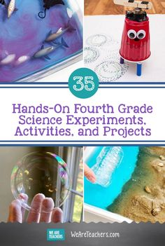 Engage fourth grade science students with hands-on experiments and activities like erupting a lemon volcano or testing out mood rings! 4th Grade Science Experiments, Kids Science Fair Projects, Fourth Grade Science, Science Student, Science Lessons, Science For Kids, Teacher Hacks, Teacher Stuff, Writing Lessons