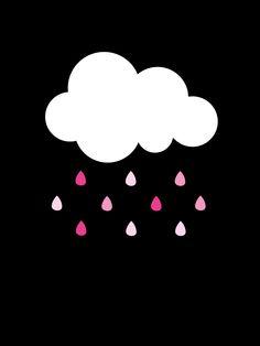 Rainy day, Svart/Rosa