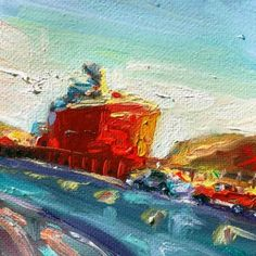 """Irene Duma, """"Mighty Big Ship"""", oil painting of ship in the St. Canadian Dollar, Canadian Art, Mini Paintings, Affordable Art, St John's, Newfoundland, Lovers Art, Irene, Wrapped Canvas"""