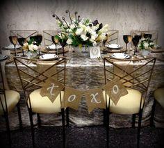 Art Deco Wedding Garland Burlap Banner / Great Gatsby via Etsy