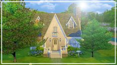 OLD ENGLISH COTTAGE // The Sims 4: Speed Build Cottage Patio, Cottage Farmhouse, English House, English Cottages, Old English, Modern English, Cottage Front Doors, Cottages By The Sea, Sims Building
