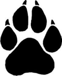 panther paw print silhouette clip art download free versions of the rh pinterest com panther paw clipart black and white Panther Paw Graphics