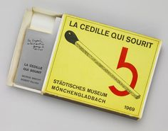 """George Brecht & Robert Filliou   La Cedille Qui Sourit was a shop operated by Filliou and Brecht at Villefranche on the Cote d'Azu, where they sold various Fluxus and """"avant-garde"""" works."""