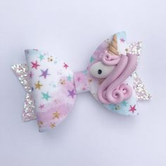 Excited to share the latest addition to my #etsy shop: Pink Unicorn Bow, Unicorn, Star Bow, Girls Hair Bow, Baby Girl Headband, Pastel colour Bow, Spring Hair Bow