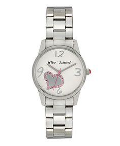 Betsey Johnson Watch, Women's Stainless Steel Bracelet BJ00025-01 - Women's Watches - Jewelry & Watches - Macy's