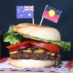 Green Gourmet Giraffe: The Vegemite burger - and it's vegetarian