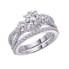 Diamond Ring Round Diamond Wedding Ring Set