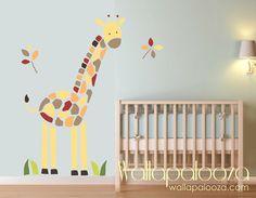 Giraffe Wall Decal  Nursery kids room  Baby by WallapaloozaDecals, $62.00