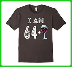 Mens 65 Years Old Red Wine Glass Gift 65th Birthday Shirt 3XL Asphalt - Food and drink shirts (*Amazon Partner-Link)