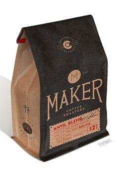 Maker Coffee Roasters | #packaging #coffee
