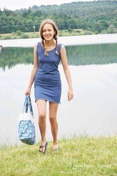 kostenlose Anleitung und Schnittmuster für ein schnelles Jersey - Kleid / Strandkleid